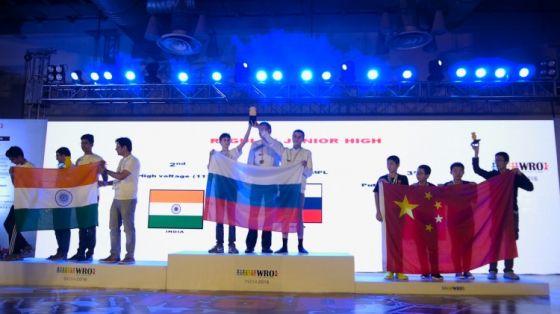 Российские школьники на Всемирной олимпиаде роботов