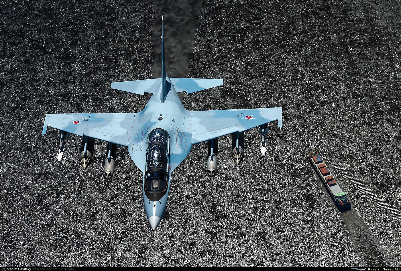 """Самолет Як-130 (бортовой номер """"58 красный"""") ВКС России. Июль 2016 года."""