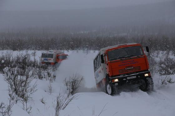 Покорении якутских озер на КАМАЗах