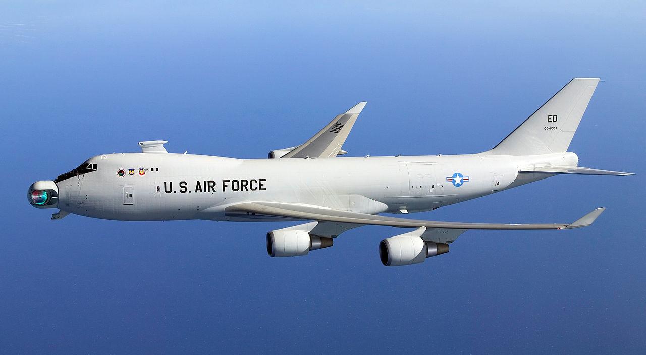 Boeing YAL-1 Airborne Laser (боевой лазер на Boeing 747-400 F).