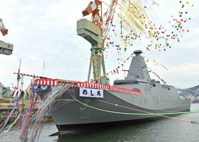 Японцы спустили на воду третий фрегат нового поколения