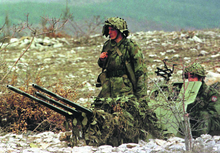 Югославские зенитчики на позиции. Фото Reuters