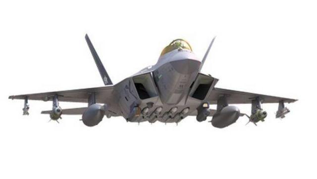 Рисунок самолета KF-X