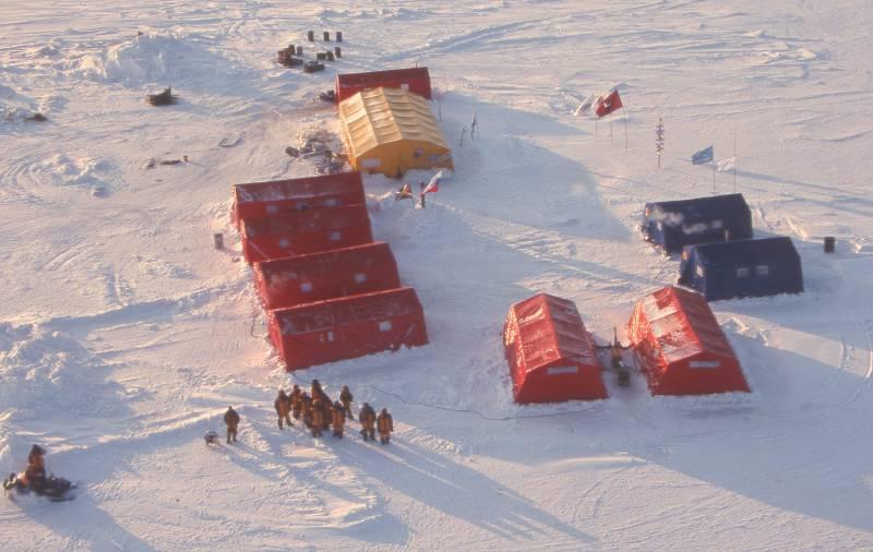 Экспедиция в Арктике.
