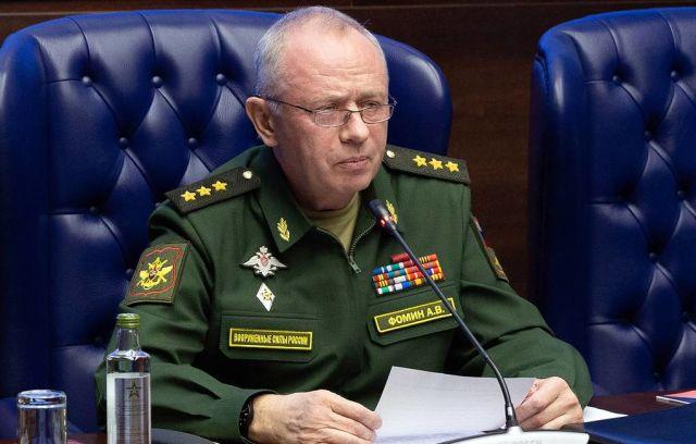 Заместитель министра обороны РФ генерал-полковник Александр Фомин