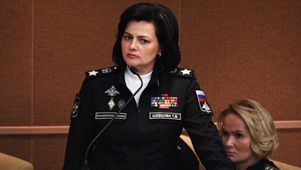 Заместитель министра обороны РФ Татьяна Шевцова на пленарном заседании Государственной Думы РФ
