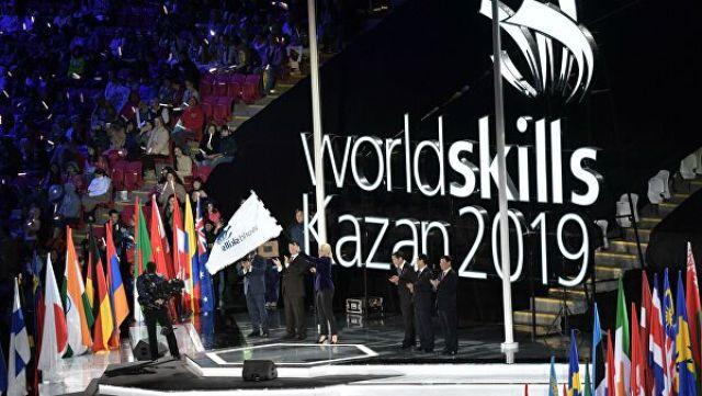 Заместитель председателя правительства РФ Татьяна Голикова на церемонии передачи флага чемпионата представителям Шанхая