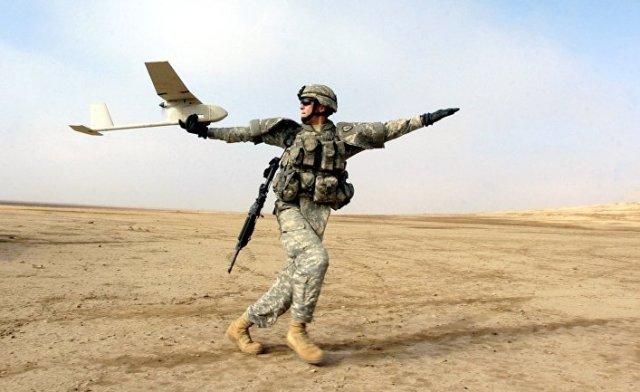 Запуск RQ-11 Raven (Ирак)