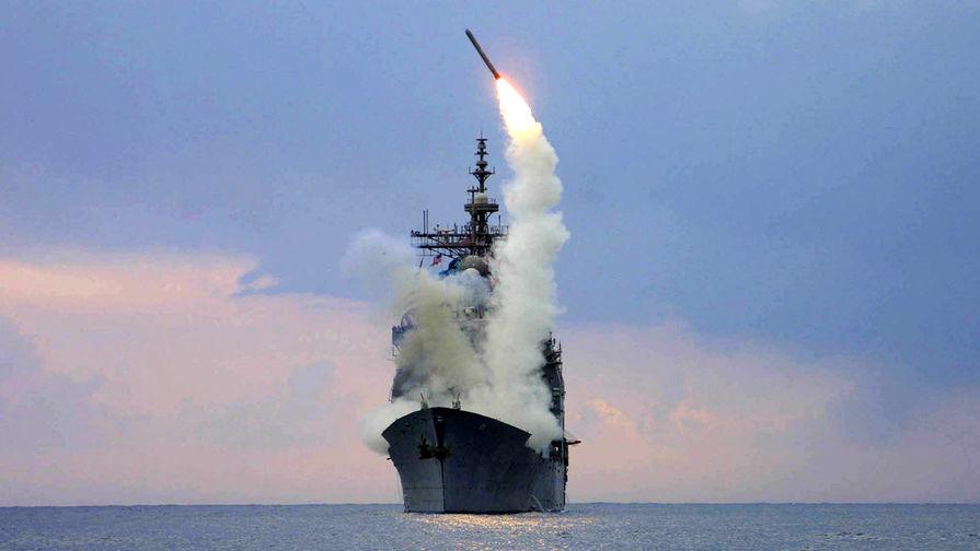 "Запуск ракеты ""Томагавк"" с ракетного крейсера Cape St. George."