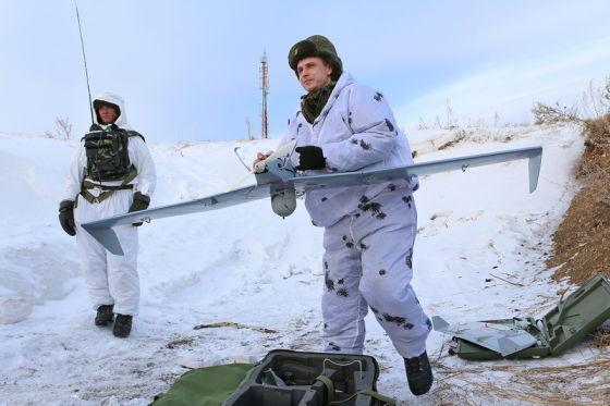Запуск мини-БЛА «Застава»
