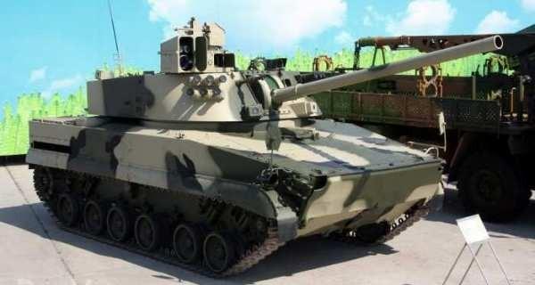 """Вариант САУ """"Зауралец"""" на шасси, унифицированным с БМД-4М."""