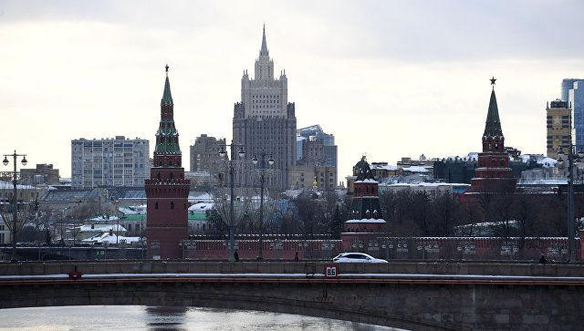 Здание министерства иностранных дел РФ в Москве. Архив.