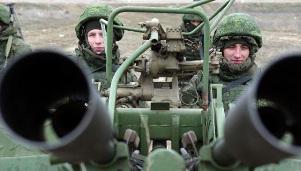 Зенитная артиллерийская установка ПВО РФ. Архивное фото