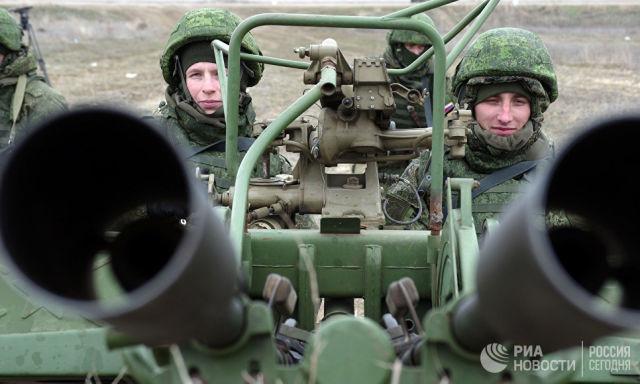 Зенитная артиллерийская установка ЮВО. Архивное фото