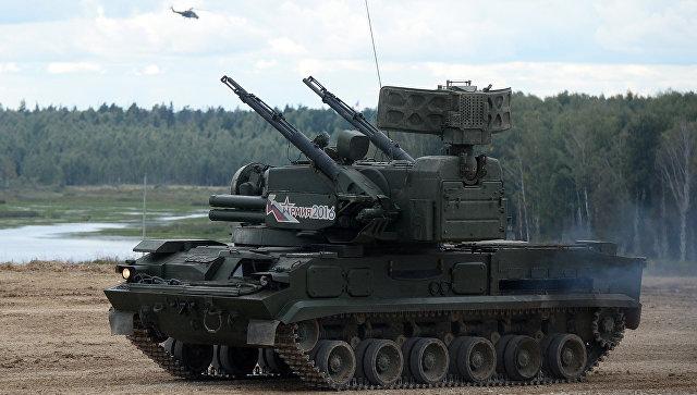 Зенитный ракетно-пушечный комплекс (ЗРПК) ближнего действия Тунгуска-М. Архивное фото.