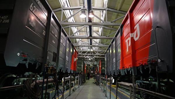 Железнодорожные вагоны в одном из цехов Уралвагонзавода в Нижнем Тагиле. Архивное фото
