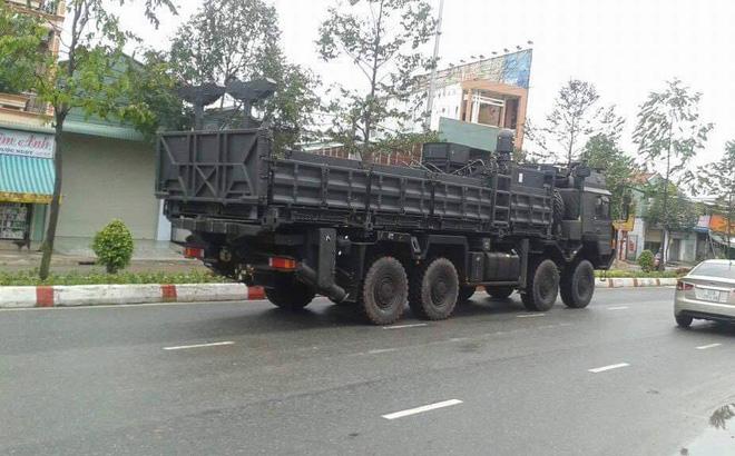 Боевая машина из поставленной во Вьетнам батареи израильского ЗРК Rafael SPYDER, февраль 2017 года.