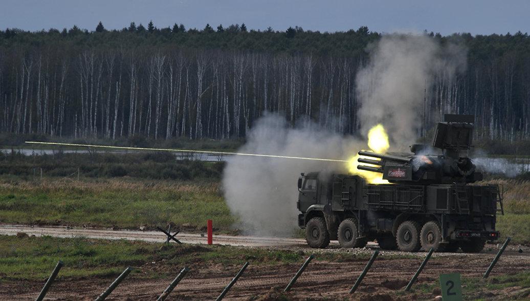 Зенитный ракетно-пушечный комплекс Панцирь-С1.