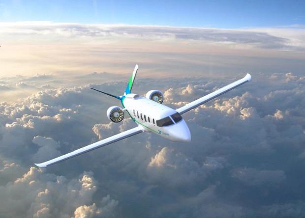 Рисунок электросамолета Zunum Aero.